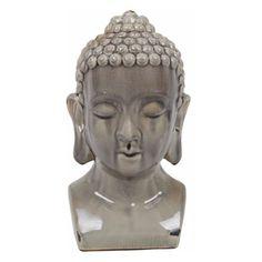 Privilege International Buddha Head Bust - Light Gray - 79025