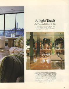 Vintage San Francisco Condo Gentrification. Architectural Digest, August 1985
