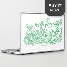 Get your very own Stormy Sea Studio Octopus design on a laptop skin! As part of my #LoveTheSea series, 10% of the profits will be donated to the Suncoast Surfrider Foundation.