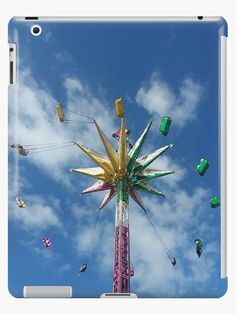 Buy 'At the Fair: Swings' by Missy69 as a Graphic T-Shirt, Women's Chiffon Top, Contrast Tank, iPhone Case/Skin, iPhone Wallet, Case/Skin for Samsung Galaxy, Poster, Throw Pillow, Floor Pillow, Tote Bag, Studio Pouch, Duvet Cover, Mug, Tra...