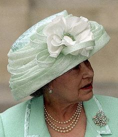 It has been several long months since we completed our last royal hat inventory. When we left off, I promised a look at all of the green hats in Queen Elizabeth's millinery closet, a promise … Die Queen, Hm The Queen, Royal Queen, Her Majesty The Queen, Elizabeth Ii, Windsor, Royal Jewels, Crown Jewels, Prince Charles And Diana