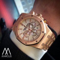 Make people stop and stare with the Audemars Piguet Royal Oak in rose gold. Maximum impact