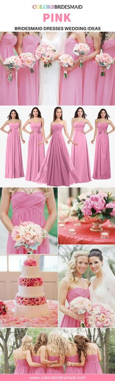 Pink Bridesmaid Dresses. Pink Bridesmaid DressesWedding Bridesmaids WeddingideasCustom MadeRose Bridesmaid Dresses a68e8c434191