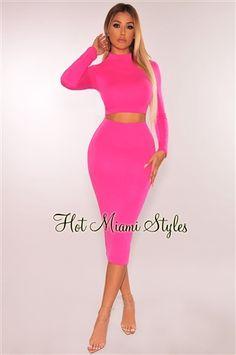 76cff60320b1 13 Best Neon Pink Dresses images   Cute dresses, Blush pink dresses ...