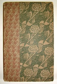 Vale Press Cover, The Rowley Poems of Thomas Chatterton edited by R. Steele, 1898   Decorated by Charles Ricketts