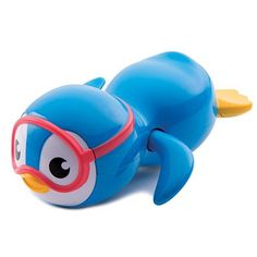 Ready, set swim. If your little one loves splashing' and splashing' he's going to love this cute swimming penguin. Simply wind-up the penguin's arms and watch him go. The penguin really swims through water making this bath toy a swimming success.