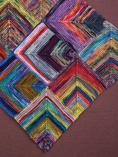 Rhapsody in Color Shawl pattern from Koigu's new book Wrapped in Color: 30 Shawls to Knit.