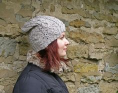 Looking hat for autumn? You came to the right shop! Here I have totally hip handmade slouchy hat knitted from super soft gray merino yarn. Beautiful bobble pattern is hand designed by me, so it will be completely unique accessory for you.  SIZE Size S. US 6 3/4. UK 6 5/8. Fits head circumference 54 cm (21.26 inch)  MATERIAL 100% merino yarn.  CARE All handmade is better when handled with love and care. Hand wash using mild soap, squeeze (don't wring) to remove excess water and roll ...