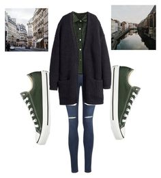 """""""Untitled #17"""" by molu-1 on Polyvore featuring George, WithChic, H&M, Converse, women's clothing, women's fashion, women, female, woman and misses"""