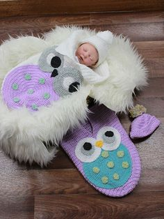 Crochet - Ollie the Owl Cocoon - #REC1742