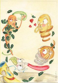 Ilustração criada para um conto de Ana Margarida Leitão.