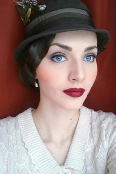 Beautiful 1920's make-up. Love it!! Simple and not overdone. She looks so elegant without caked on pounds of makeup.