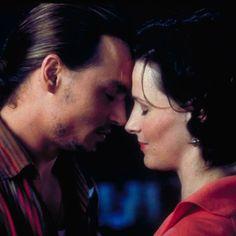 Vianne (Juliette Binoche) and Roux (Johnny Depp) ~ Chocolat - love this movie!
