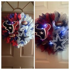 House divided    Dallas Cowboys.  Houston Texans Custom made to order.  Lvb959@yahoo.com