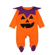 Girls' Baby Clothing Halloween Baby Clothing Costumes Graffiti Skull Gold Pumpkin Pattern Bebe Infant Hallowmas Ruffles Romper Jumpsuit+headband Available In Various Designs And Specifications For Your Selection Clothing Sets