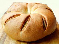 Bread Baking: Tomato-Pesto Swirl Bread