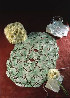 """Lily Pond, part of Crochet World's FREE Doily of the Month. Get the download here: http://www.crochet-world.com/doily.php?id=11  """"Like"""" the Crochet World Facebook page so you don't miss a single monthly installment: https://www.facebook.com/CrochetWorldMag"""