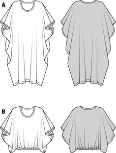 Kaftan si tunica in cascada 7402 - Tipare de croitorie