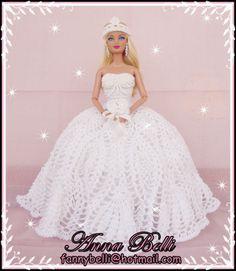 Imagina que luxo um vestido de noiva todo em crochê... Por quê eu não pensei nisso antes???