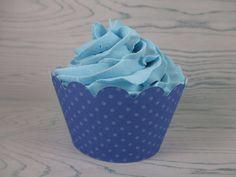 Dots cupcake wrappers,Polka Dots cupcake wrapper, Polka Dots Wrap, Polka Dots cupcake wrappers, Boy baby shower, blue cupcake wrappers Polka Dot Cupcakes, Blue Cupcakes, Baby Shower Themes, Baby Boy Shower, Cupcake Wrappers, Little Babies, First Birthdays, Polka Dots, Birthday Parties