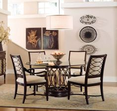 circle glass table and chairs fabric to reupholster kitchen 67 best dining tables images room sets furniture with round design