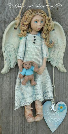 C Steele Collection Porcelain China Product Polymer Clay Dolls, Polymer Clay Projects, Pottery Angels, Clay Angel, Dremel Wood Carving, Diy Nativity, Ceramic Angels, How To Make Clay, Clay Baby