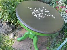 Super cute refurbished stenciled table