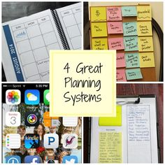 4 Planning Systems for the New School Year - Ready to get organized and ready for everything the new school year can dish out? Check out one of these four planning systems to help your life as mom.