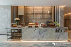 Gorgeous interior design with a powerful interior project is what you can take here. See more clicking on the image. Hotel Breakfast Buffet, Hotel Buffet, Restaurant Interior Design, Kitchen Interior, Kitchen Design, Seafood Restaurant, Cafe Restaurant, Open Kitchen Restaurant, Hotel Lobby Design