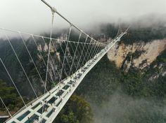 Worlds highest and longest glass Bridge as of 2016 in Zhangjiajie, CHunan, China via @AOL_Lifestyle Read more: https://www.aol.com/article/news/2017/02/09/incredible-bridges-from-around-the-world/21710667/?a_dgi=aolshare_pinterest#fullscreen