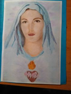 Finished: 22. 12. 2015; Source: Pinterest; Medium: Maped Color'Peps, hard pastels Gioconda; FB challenge no. 18 - to colour a gift for somebody using mainly my favourite colour
