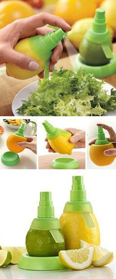 Citrus Pump that sticks directly into any citrus fruit to get fresh juice without squeezing //