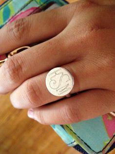 monogramed ring