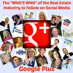 "The ""Who's Who"" of the Real Estate Industry to Follow on Social Media at Google Plus: http://rochesterrealestateblog.com/whos-who-real-estate-industry-follow-social-media-google-plus/  #realestate"