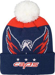 88a33db6f65 NHL Youth 2018 Stadium Series Washington Capitals Pom Knit Beanie