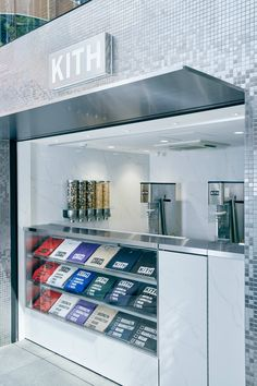 Take a Look at the New Kith Treats Location in Tokyo Retail Store Design, Retail Shop, Commercial Design, Commercial Interiors, Clothing Store Design, Retail Interior, Coffee Design, Retail Space, Shop Interiors