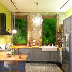 Green wall art for a New York apartment by Artisan Moss
