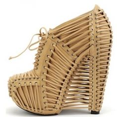 The Iris van Herpen ( which you may know as a kinda crazy fashion designer) X United Nude shoe is well, out of this world.