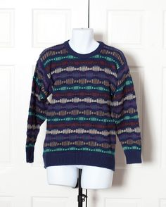 A personal favorite from my Etsy shop https://www.etsy.com/listing/468481258/vintage-80s-90s-mens-textured-sweater
