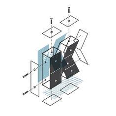 The Exploded Alphabet Diagrams: K -the Design Office of Matt Stevens - Direction + Design + Illustration