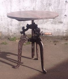 industrial furniture solid iron crank adjustable table solid wood top buy industrial furniture