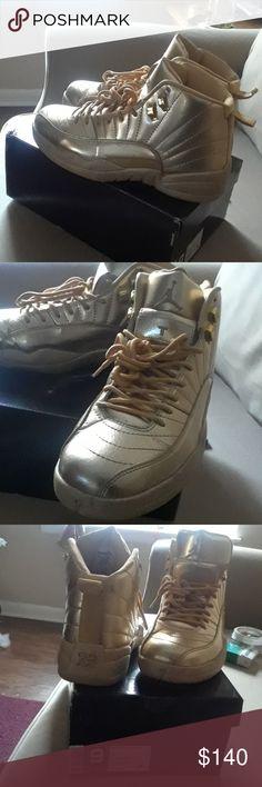 Air Jordan retro 12s All over gold Jordan Shoes Sneakers