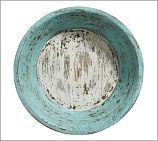 Distressed Colored Wooden Bowl, Blue #potterybarn