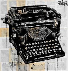 Blog: Type & Time: Drawn Typewriters - Doodlers Anonymous #Art #Doodle