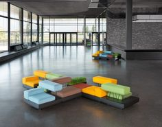 PLOT seating by German designers Osko+Deichmann for Brunner
