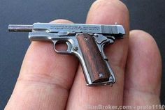 Hand Made 1:6 Scale Miniature Colt 1911A1, Silver : Other Collectible Guns at GunBroker.com