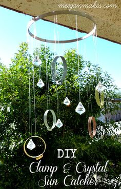 Colorful DIY Clamp & Crystal Sun Catcher