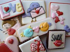 """Cute Valentine's Day cookies made by Flickr member """"JJ Spencer"""". ~ Epi"""