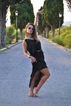 http://www.theguestgirl.com/2013/07/black-gold.html #boho #chic #bohochic #gypsy #black #dress #maxidress #maxi #nature #pretty #happy #ootd #fashion #blog #me #rayban #cottet #ibiza #moda #rayban