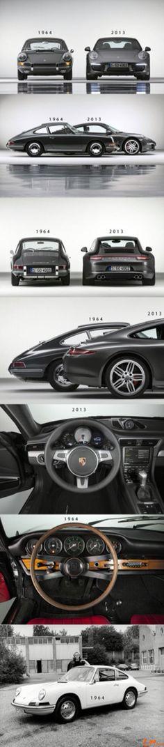 Porsche 911 ~ 1964 vs 2013…